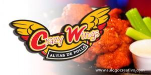 Logotipo restaurant alitas de pollo.