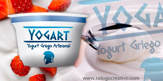 dise�o de logo para un nuevo yogurt