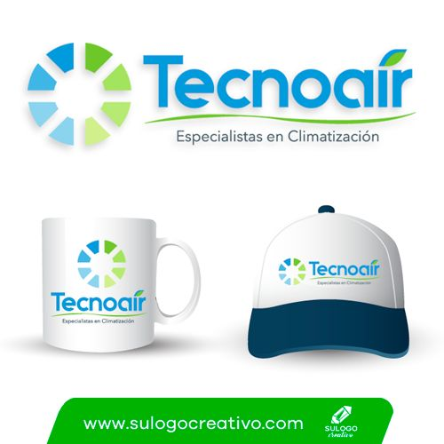 Logotipo para Tecnoair climas de Cancun