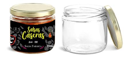 Diseño e impresión de Etiqueta para  la venta de Salsa Tarasca en Morelia y Pénjamo Guanajuato.