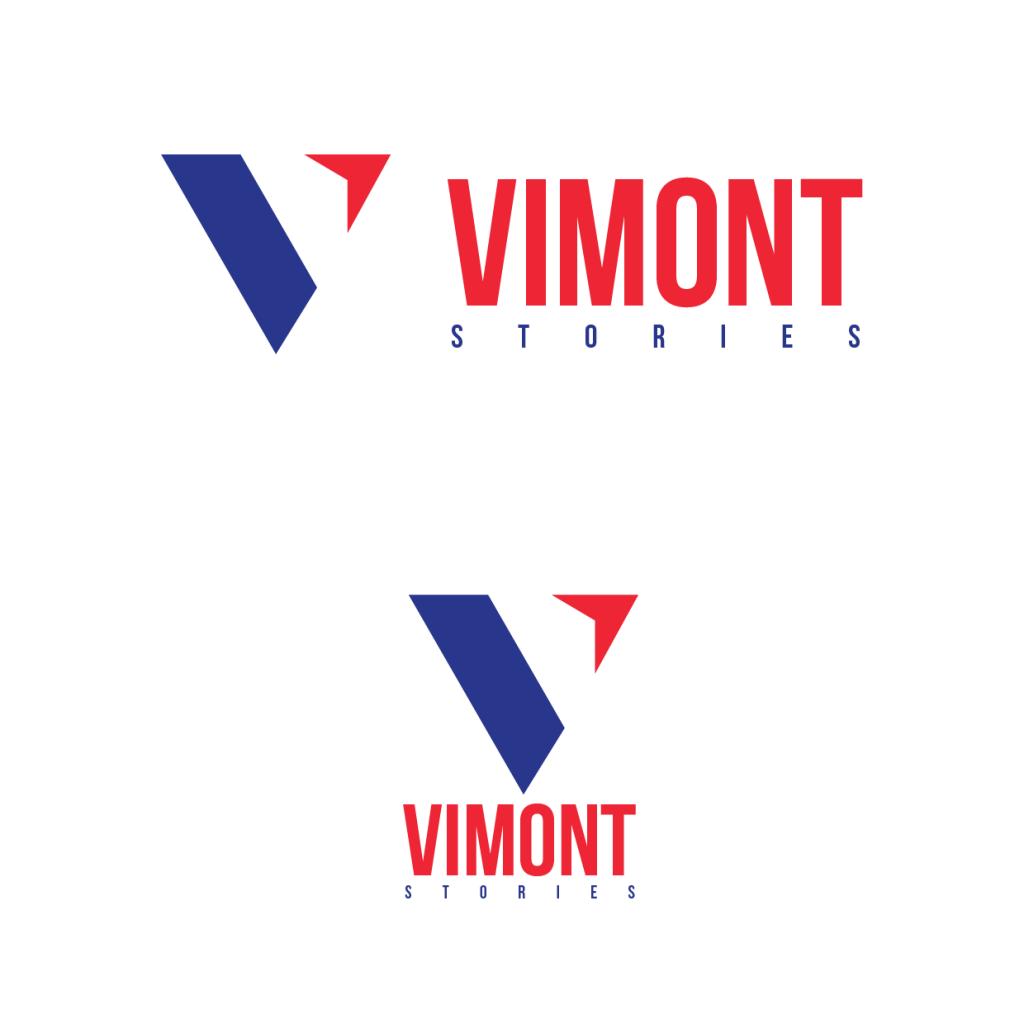 Propuesta de logo para tienda de ropa hombre y mujer con colores azil y rojo colores de la bandera de francia.
