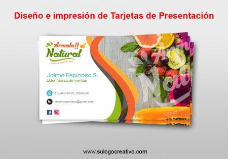 Trajetas de presentación Tulancingo Hidalgo
