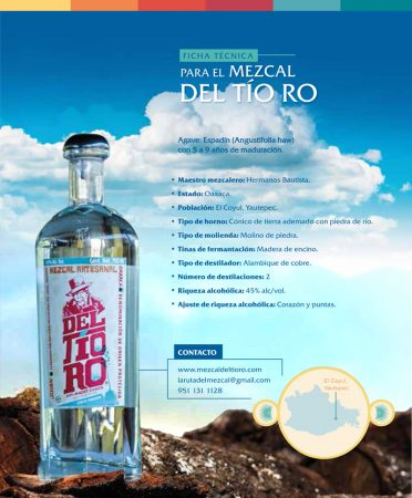 Diseño de etiqueta para botella de mezcal de oaxaca