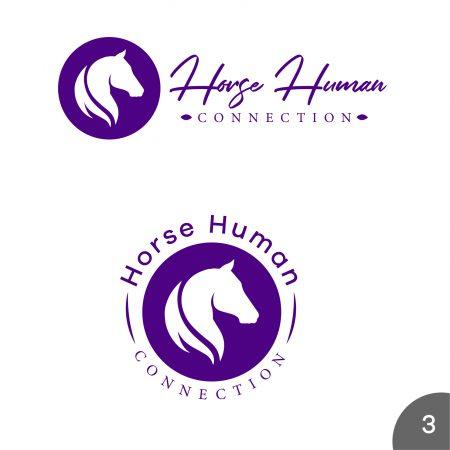 Diseño de logotipos en Morado temática caballos