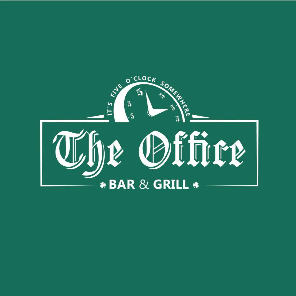 Logotipo The Oficce Bar Grill en McAllen, Texas.