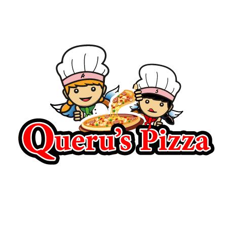 Diseño de logotipo para pizzas Queru´s en Morelia Michoacán.